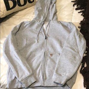 Carhartt gray zip up hoodie